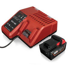 For Milwaukee M18 48-11-1840 Red Li-ion Battery & 18V Li-ion Battery Charger