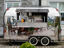 Stainless Steel Airstream Catering Style Trailer Food Truck, Exhibition, coffee