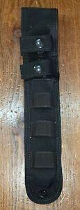 "Eagle Industries knife sheath black kydex lined belt MOLLE 6.5"" blade dual strap"