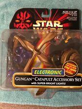 STAR WARS EPISODE 1 TPM ELECTRONIC GUNGAN CATAPULT ACCESSORY SET NEW 1999