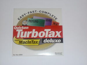 Quicken TurboTax Deluxe 2000 for Apple Mac OS
