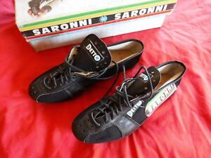 New w/box Saronni size 37 Cycling Cleat Shoe Lace type, missing 2 screws. Eroica