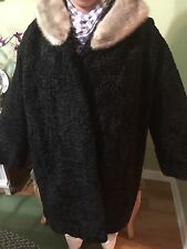 Vintage Persian Lamb Skin Fur Coat .l