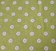 Letter Stitch J Wecker Frisch Quilting Treasures BTY  Green Polka Dot Buttons