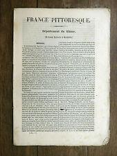 HUGO France Pittoresque LE RHÔNE 1835 Av. carte & 5 gravures LYONNAIS BEAUJOLAIS