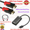 Micro-USB to HDMI MHL Video Adapter+Ultra HDMI-3 HDMI Cable 3FT,3D,Audio Return,