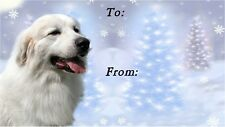 Pyrenean Mountain Dog Christmas Labels by Starprint