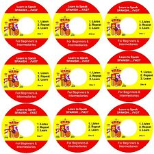 Learn SPANISH Fast ...Listen, Repeat and Learn 9 Audio CD Set - Simple & Fast -