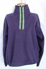 Vtg Womens The North Face Purple Fleece Pullover Size XS Jacket Extra Small TNF