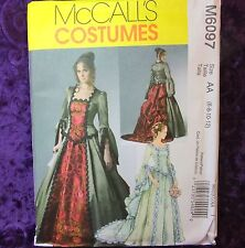 McCall's 6097 M6097 Steampunk Victorian Costume Gown Bustle 2 Looks 6-12 Pattern