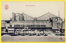 """cpa LOCOMOTIVE """" VIEUXVICQ """" TRAINS de MARCHANDISE Cie de l'Etat Blason PARIS"""