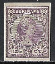 Surinam 1892 12 1/2c Imperforated Proof Ung Vf
