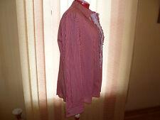 NWT Marina Rinaldi long sleeve plaid blouse/shirt in white/red+details s. 29/20W