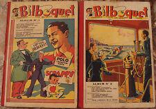 BILBOQUET, LE JOURNAL DE TOUTE LA  JEUNESSE. ALBUMS N° 1 ET 2. 1938.