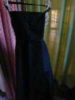 noir tres ancien tablier femme ,2poches  t b état vétement d époque 1900-1920 ?