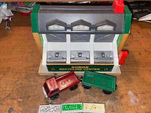 Thomas Wooden Railway Train Sodor Recycling Center Plant Lorry 1 Green Cargo Car