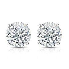 2CT Charles & Colvard 14K White Gold Moissanite Stud Earrings
