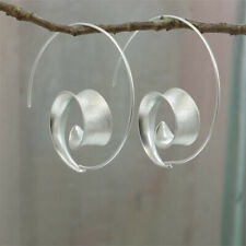 Simple Classic 925 Silver Hoop Earrings Women Fashion Bride Ear Stud Jewelry
