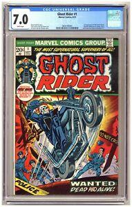 Ghost Rider #1 (CGC 7.0) 1st brief app. Son of Satan; Marvel Comics; 1973 C550