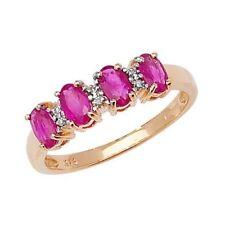 Ovale Echtschmuck-Ringe aus Gelbgold mit Rubin