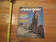 Snowmobile Magazine Snow Goer Dec 1972 Damaged Wavy pages