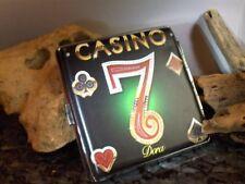Zigarettenetui Zigaretten Etui Box Case Dose aus Leder Design Motiv Serie Casino