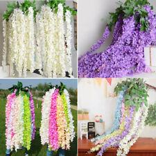 10Pcs Artificial Silk Fake Flower Garland Vine Wisteria Hanging Wedding Decor