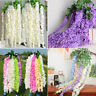 10Pcs Artificial Silk Fake Flower Garland Vine Wisteria Hanging Wedding Decor