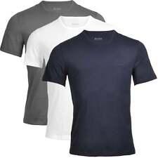 HUGO BOSS Men's 3-Pack Cotton Classic Crew Neck T-Shirt, Grey, Navy & White Tee