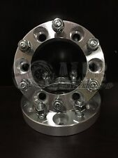 """2 X 1"""" Thick 6x5.5 Wheel Spacer Adapters M12-1.5 Studs 6 Lug Billet 6x139.7"""