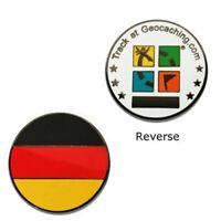 Country Micro Geocoin Germany Deutschland Trackable Coin Travelbug DE