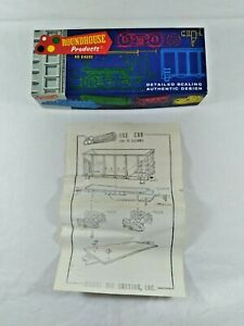 """Vintage HO Train Roundhouse 26"""" Ore Car Kit Box and Instructions Only"""