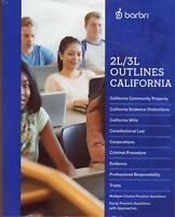 FOR 2L/3L CA LAW STUDENT-17-18-BARBRI CALIFORNIA 2L/3L OUTLINE+NEW CA PR CHANGES