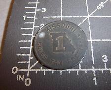 Vintage Missouri retail State Sales Tax receipt Token Coin, 1 mil, great item