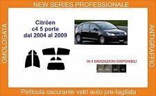 pellicola oscurante vetri pre tagliata citroen c4 5 p 2004-2009  kit completo