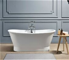 Ryedale freestanding Cast Iron Roll Top 'Bateau' Bath 1700mm - without tapholes.