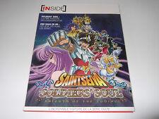 Artbook Inside Saint Seiya Soldier's Soul Knights of the Zodiac Neuf