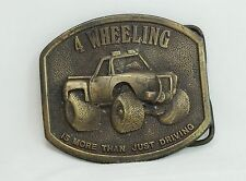 Vintage 1976 Bergamot Brass Works Buckle - 4 WHEELING IS MORE THAN JUST DRIVING