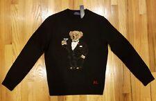 Polo Ralph Lauren Men's Martini Teddy Bear Tuxedo Wool Sweater Size S THESPOT917