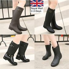 Fashion Ladies Women Wellington Boots Rain Snow Waterproof Festival Size UK 4-8