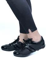 PRADA women's black fabric glossy sneakers | Size EUR 39.5/US 8.5 (26cm/10,2in)