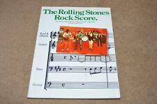 The Rolling Stones Rock Score music book with lyrics