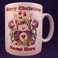Personalised Christmas Penguin Mug - Coaster - Cup - Novelty - Xmas - Gift