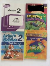Abeka 2nd Grade: Video Manual, Letters 2 Test Key, Math Drills, Science Reader
