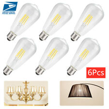 6PCS E26 4W 2700K Dimmable LED Light Bulb Set Vintage Glass Cover Filament Bulbs