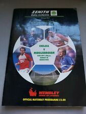 Zenith Data Systems CUP FINAL Programme 1990 Chelsea V Middlesbrough