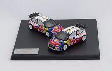 CITROEN C4 WRC RALLY CATALUNYA 2009 #1 #2 1/43 IXO ORIGINAL CITROEN BOX