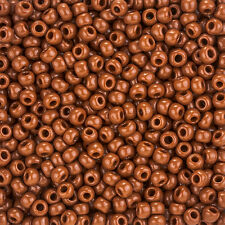 Toho Round Size 6/0 (4mm) Seed Beads Opaque Terra Cotta 11.5g Tube (L90/4)