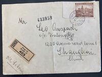 1941 Prague BM Germany to Shanghai Ghetto China Israel Cover Judaica Leo Auspach