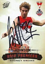 ✺Signed✺ 2012 SYDNEY SWANS AFL Premiers Card ALEX JOHNSON